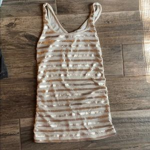 Gold striped sequence tank